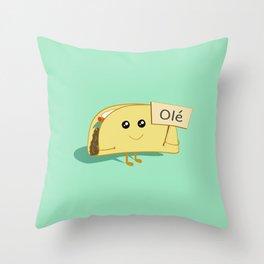 Happy Taco, Olé Throw Pillow