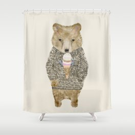 sundae bear Shower Curtain
