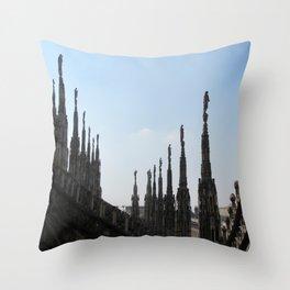 Spires of Il Duomo Milano Throw Pillow