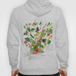 Healthy Food with water splash on white background Hoody