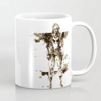 metal gear solid Mugs featuring Metal Gear Solid wolf by Hisham Al Riyami