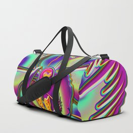 Immortal Orchid Flower Abstract Duffle Bag