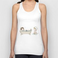 bucky barnes Tank Tops featuring Bath Time with Steve Rogers and Bucky Barnes  by BlacksSideshow