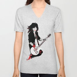 Joan Jett, The Queen of Rock Unisex V-Neck