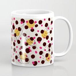 Dots + leaves Coffee Mug