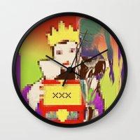 queen Wall Clocks featuring Queen by Alec Goss