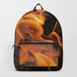 Sitting By the Crackling Fire Backpack