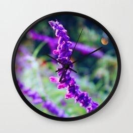 Purple Velvet Lavender Wall Clock