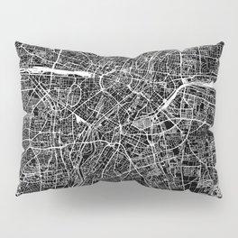 Munich Black Map Pillow Sham