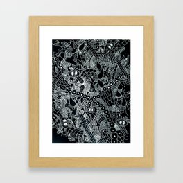 Wild Things Black and White Framed Art Print