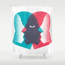 Meeting in the Middle Shower Curtain