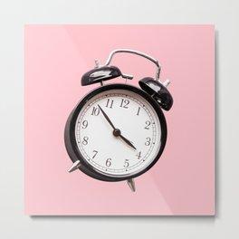 Millennial Pink Clock Metal Print