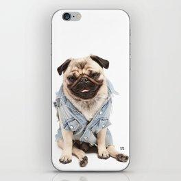 Helmut the Pug - Jean Jacket iPhone Skin