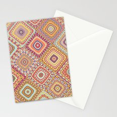 Granny's Millefiori Quilt-Spring Colors Stationery Cards