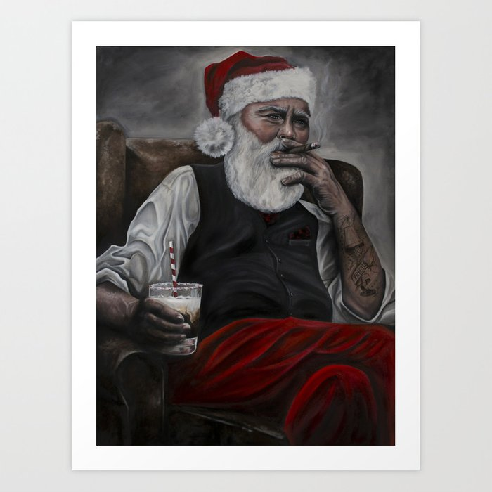 Mr. Claus: Naughty or... Art Print