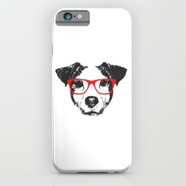 Portrait of Jack Russell. iPhone Case