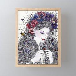 Fairest Flora Framed Mini Art Print