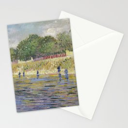 Bank of the Seine by Vincent van Gogh Stationery Cards