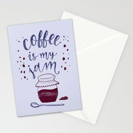 Coffee Is My Jam Stationery Cards