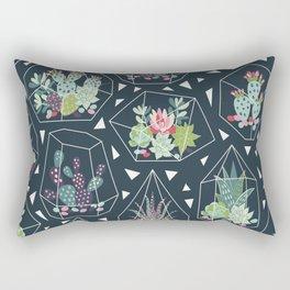 Geometric Terrarium Succulent Pattern Floral Plant Pattern Rectangular Pillow