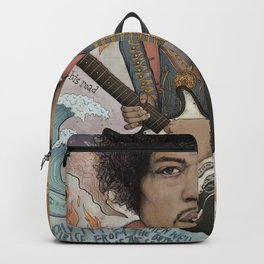 Jimi Hendrix - 11 Moons Played Across The Rainbows Backpack