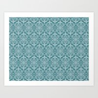 damask Art Prints featuring Damask by Xiao Twins
