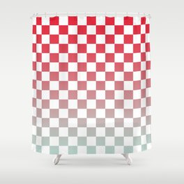 Chessboard Gradient II Shower Curtain