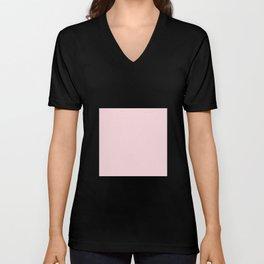 Millennial Pink Solid Blush Rose Quartz Unisex V-Neck