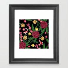 Black Tropical Framed Art Print