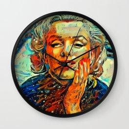 Marilyn #2 by Kulture Bang Wall Clock