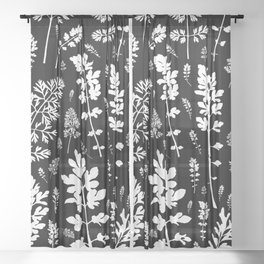 plenty of plants in the dark Sheer Curtain