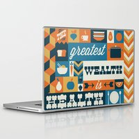 health Laptop & iPad Skins featuring The Greatest Wealth is Health by Ariel Wilson