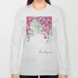 Falling flowers love Long Sleeve T-shirt