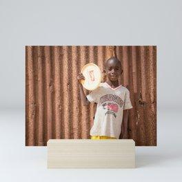 Frisbee boy Mini Art Print
