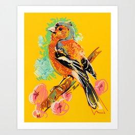 Cerisier Pinson Art Print