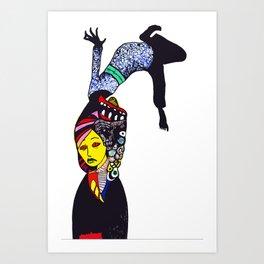 Flipped  Art Print