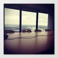 office Canvas Prints featuring Office by dylangould