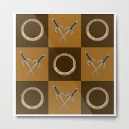 Xena Color Block Metal Print