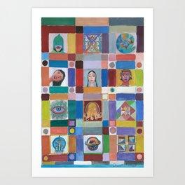 Mosaico americano Art Print