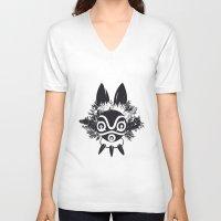 mononoke V-neck T-shirts featuring MONONOKE by kravic