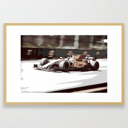 Circuit racecar Framed Art Print