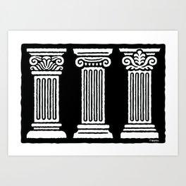 3 Columns Art Print