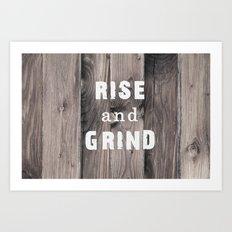 Rustic Motivation Art Print