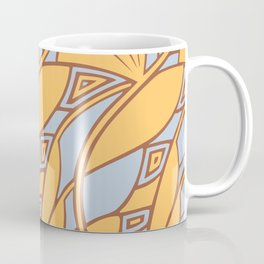 Modern art nouveau tessellations gamboge azure Coffee Mug