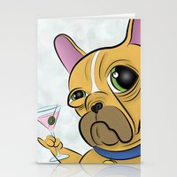 frenchie Stationery Cards featuring Frenchie by Kandus Johnson