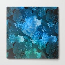 Wonderful flowers, blue colors Metal Print