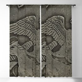 Close-up of a American old coin Blackout Curtain