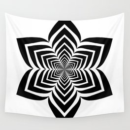 Geometric flower optical illusion Wall Tapestry