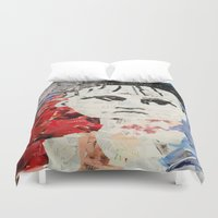 les miserables Duvet Covers featuring LES MISERABLES by JANUARY FROST