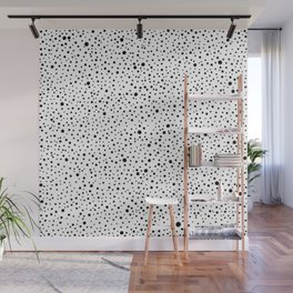 Polka Dots | Black and white pattern Wall Mural